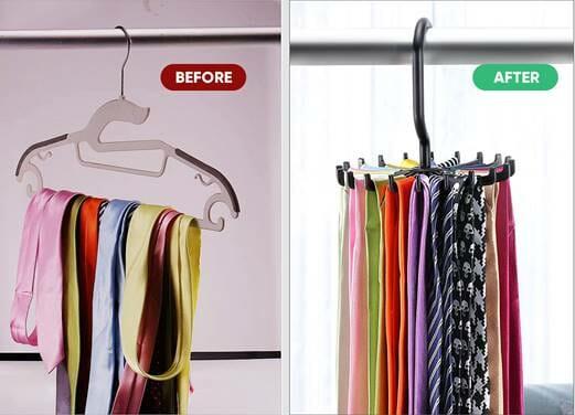 Use of Tie Rack