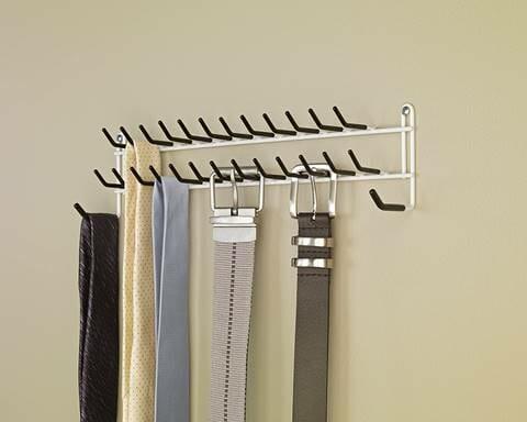 organize ties & Belts